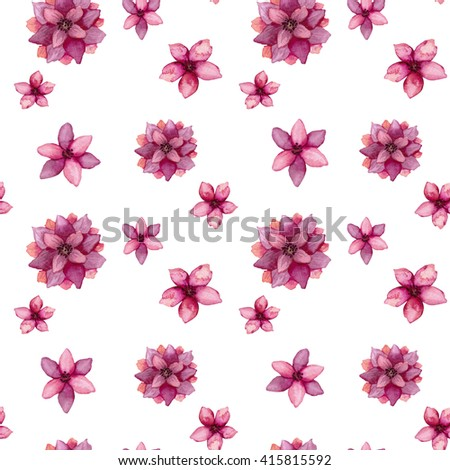 Watercolor deep pink flowers seamless texture stock illustration watercolor deep pink flowers seamless texture mightylinksfo