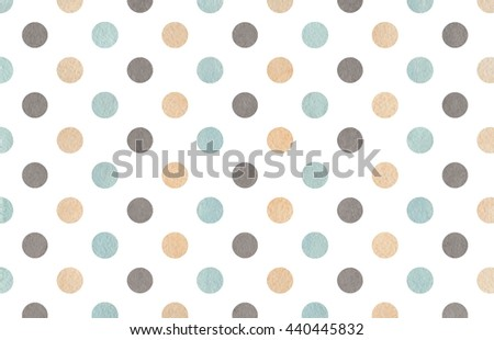 Watercolor dots in beige, gray and blue color. Watercolor beige, gray and blue polka dot background. Texture with colorful polka dots for scrapbooks, wedding, party or baby shower invitations.