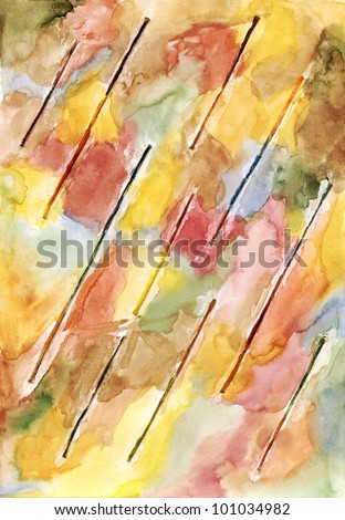 Watercolor drawing background - stock photo
