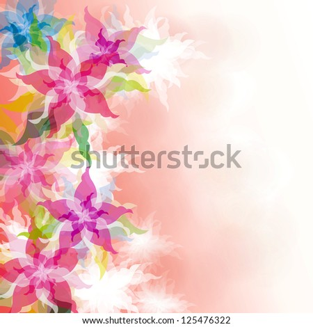Watercolor Floral background, create by vector - stock photo