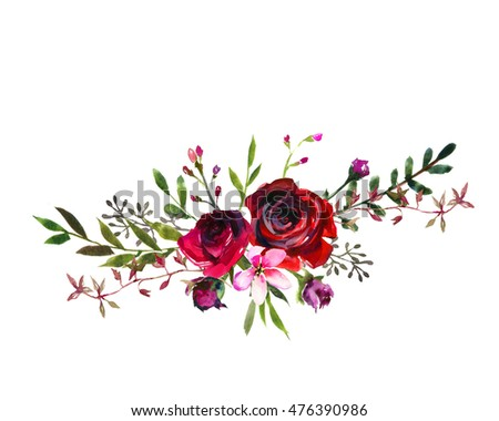 Pink Watercolor Flowers Stock Images, Royalty-Free Images ...