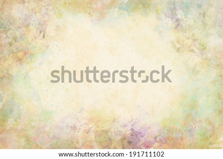 Watercolor flowers - wallpaper with illustration of lilac. Multicolor wash drawing with floral composition. Paper texture background with lilac branch painting.  - stock photo