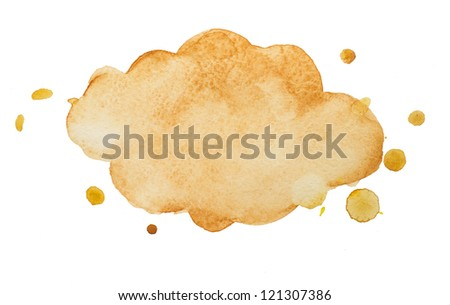 watercolor frame-cloud - stock photo