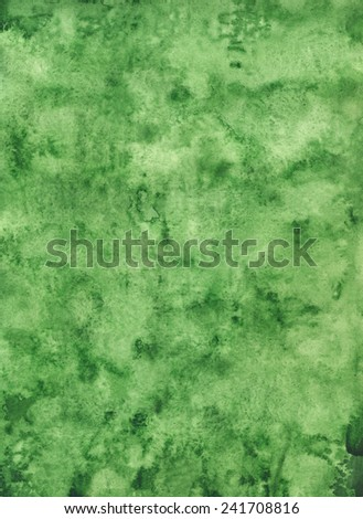 Watercolor green background texture - stock photo
