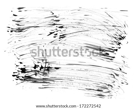 Watercolor grunge abstract pattern for your design. - stock photo