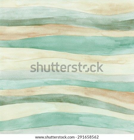 Watercolor hand painted background. Abstract multicolor texture with waves - stock photo
