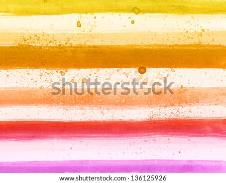 Watercolor hand painted brush striped