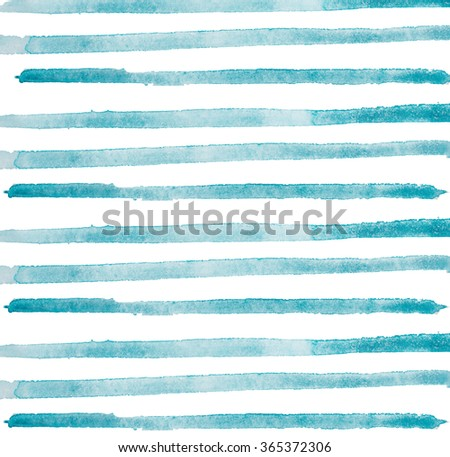 Watercolor hand painted brush strokes, line, banners. Isolated on white background - stock photo