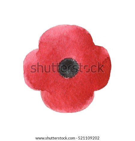 Watercolor illustration poppy flower remembrance day stock watercolor illustration of poppy flower remembrance day symbol banner design mightylinksfo