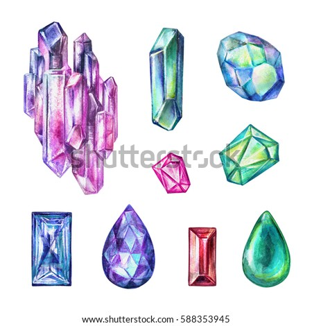 how to draw crystals and gems