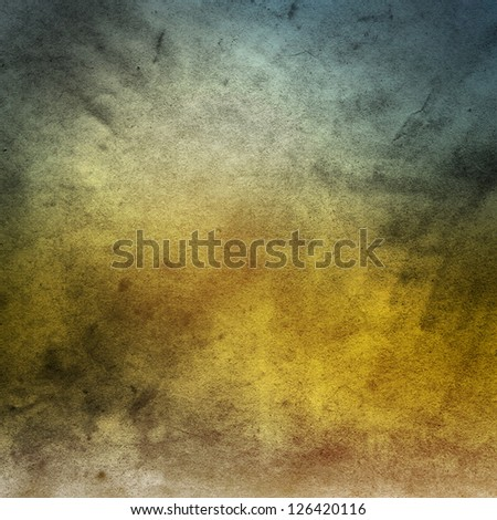 Watercolor on old paper texture background - stock photo