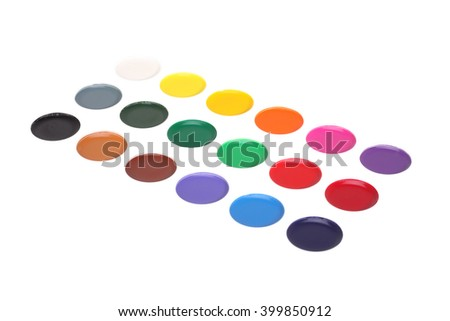 Watercolor on white background with Clipping Path - stock photo