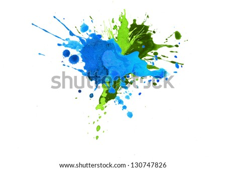 watercolor paint splash - stock photo