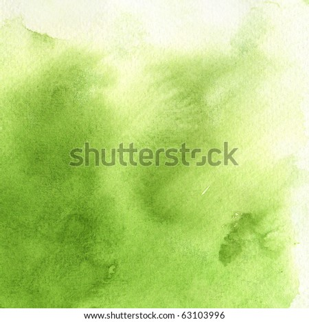 watercolor paints on a rough texture paper - stock photo