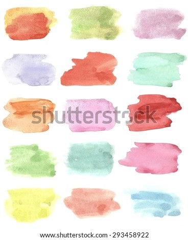 watercolor palette colors - stock photo