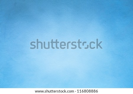 Watercolor paper texture for artwork / Old blue paper texture (horizontal) - stock photo