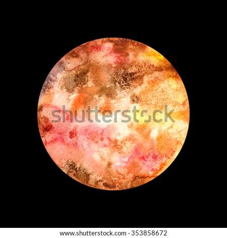 Watercolor Planet Venus - stock photo