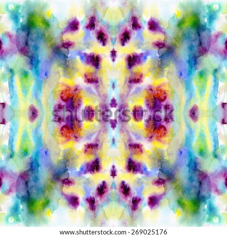 Watercolor raster seamless pattern. Hand drawn abstract illustration. - stock photo