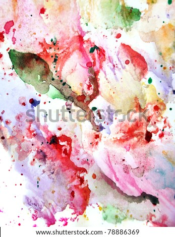 watercolor splash on background - stock photo
