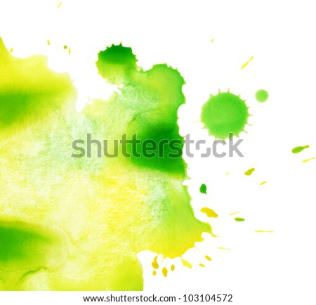 Watercolor splash texture - stock photo