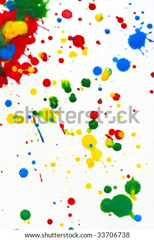 watercolor splashes on white background - stock photo