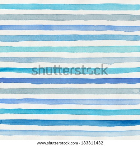watercolor striped background - stock photo