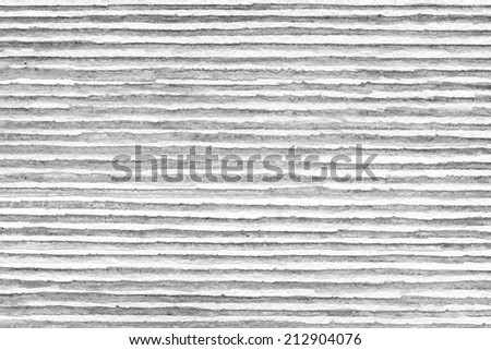 Watercolor striped background with horizontal lines over white - stock photo