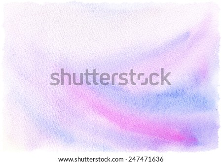 Watercolor textured background - pink and blue colors