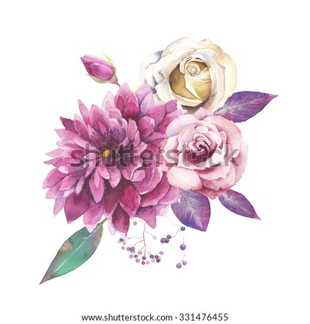 Watercolor vintage floral composition purple pink stock illustration watercolor vintage floral composition purple pink stock illustration 331476455 shutterstock mightylinksfo Image collections