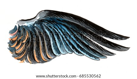 Watercolor wing