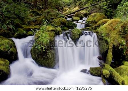 Waterfall 2 - stock photo