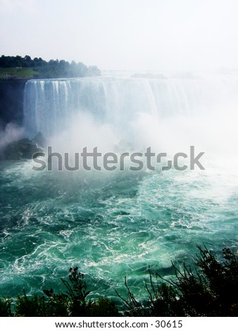Waterfall at Niagara - stock photo