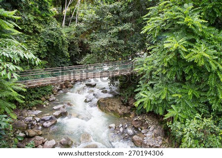 Waterfall At Poring Hot Spring, Sabah, Borneo Malaysia - stock photo
