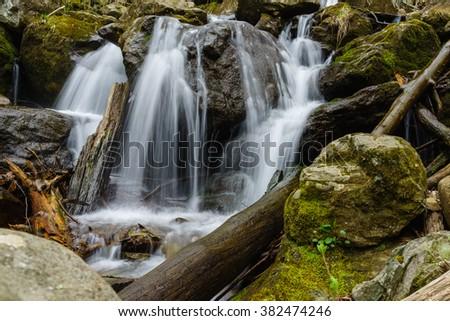 Waterfall at Shenandoah National park - stock photo