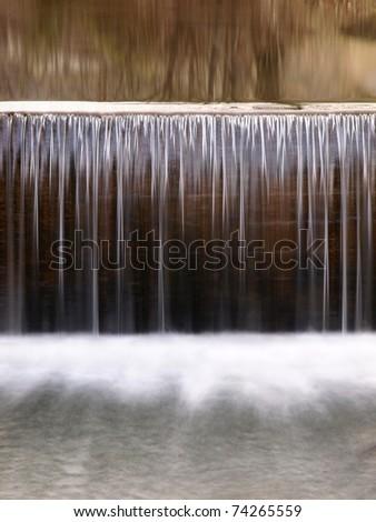 waterfall cascade - stock photo