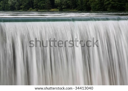 Waterfall Curtain from a Power Station with copy space - stock photo