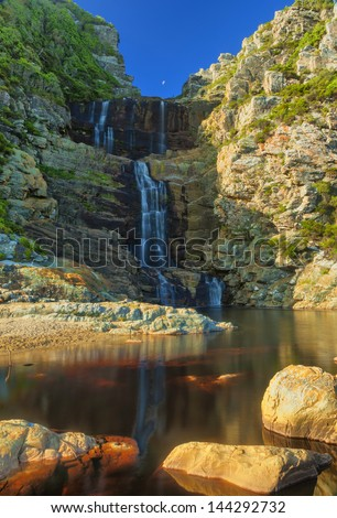 Waterfall - Eastern Cape, South Africa - stock photo