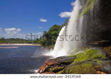 Waterfall in Canaima