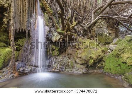 Waterfall in Casarabonela, Malaga. Spain - stock photo