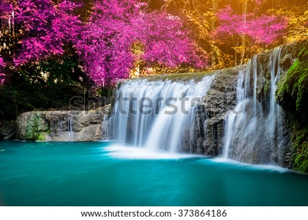 Amazing Waterfall Colorful Autumn Forest Stock Photo ... - photo#8