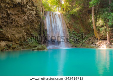Waterfall in deep forest of Thailand national park