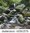 Waterfall in Great Smoky Mountains National Park - stock photo