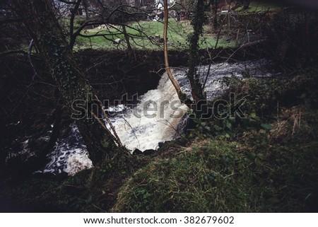 Waterfall in Ireland - stock photo
