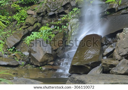 waterfall in jungle at national park,Thailand - stock photo