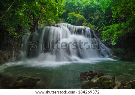 Waterfall in national Park in Thailand