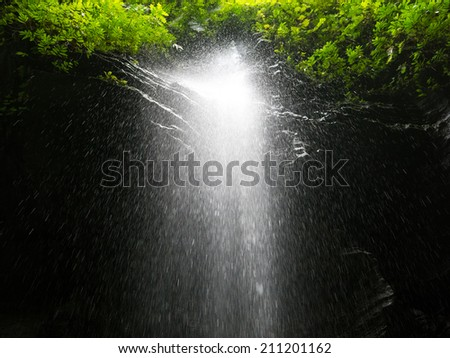 Waterfall in Paradise - stock photo