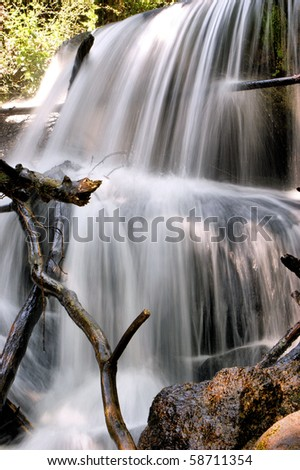 Waterfall in Queimadela, Fafe - stock photo
