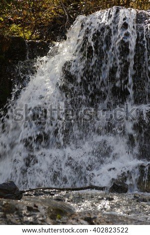 Waterfall in San Juan Mountains In Autumn Colorado, near Telluride, Ouray and Ridgway in San Miguel County