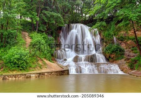 Waterfall in Slovakia - Lucky - stock photo