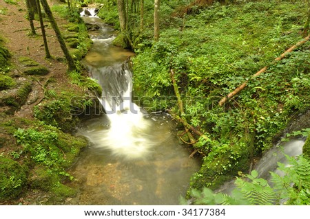 Waterfall in the Black Forest